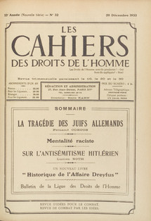 1933, anti-Semitism alerts! Collection of the Musée de Bretagne, Rennes