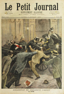 The assassination of President Carnot. Coll. MHV