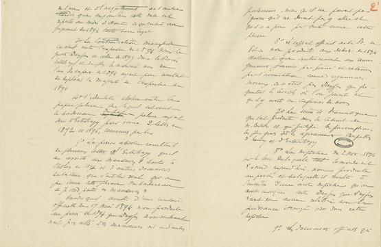 Draft pages of the overturning of Dreyfus's first conviction © CHAN - page 2