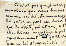 "Zola to Loubet ""the truth has all eternity for herself"" © Cour de Cassation / T. Sagory"